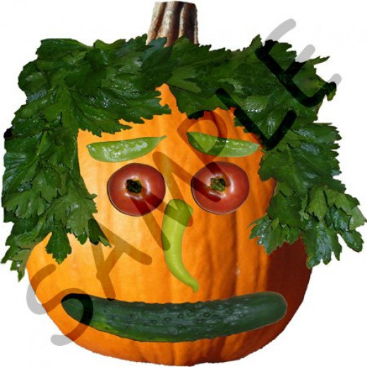 Pumpkin Veggie Face