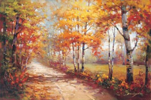 Stephen Douglas (Autumn Walk II) Painting (see below)