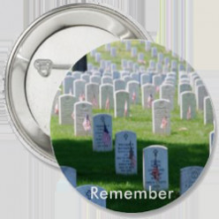 Ten Honor the Brave Buttons for Memorial Day