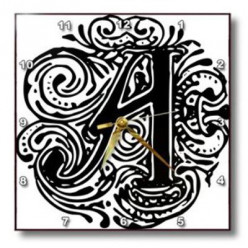 Monogram Wall Clocks