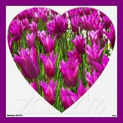 Purple Tulips Wall Decor