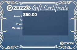 Zazzle Gift Certificate