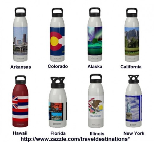Traveldestinations Water Bottles