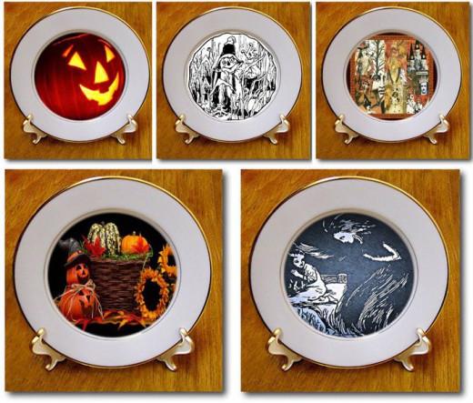 Halloween Porcelain Plates