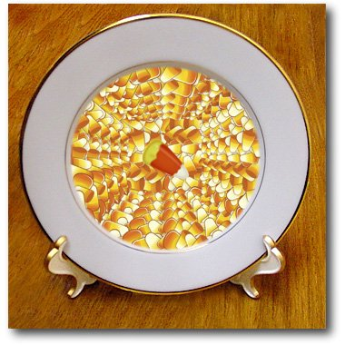 Candy Corn Pattern - 8 Inch Porcelain Plate