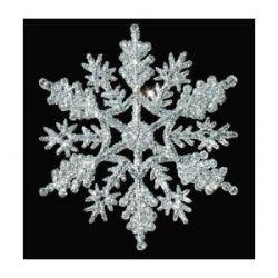Silver gliter snowflake ornaments
