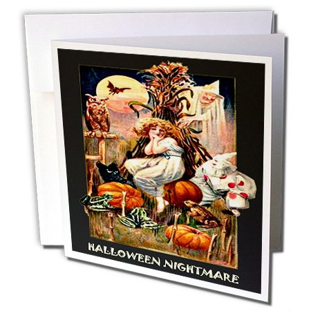 gc_6038_2 Sandy Mertens Vintage Halloween Designs - Vintage Halloween Nightmare - Greeting Cards-12 Greeting Cards with envelopes
