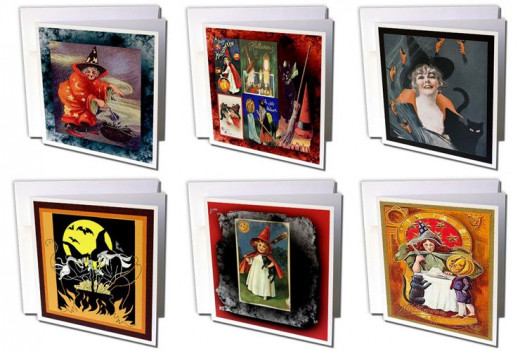 Over 100 witch cards on 3DRose under Sandy Mertens. Type in Sandy Mertens witch cards on the search bar in Amazon to see some of these.