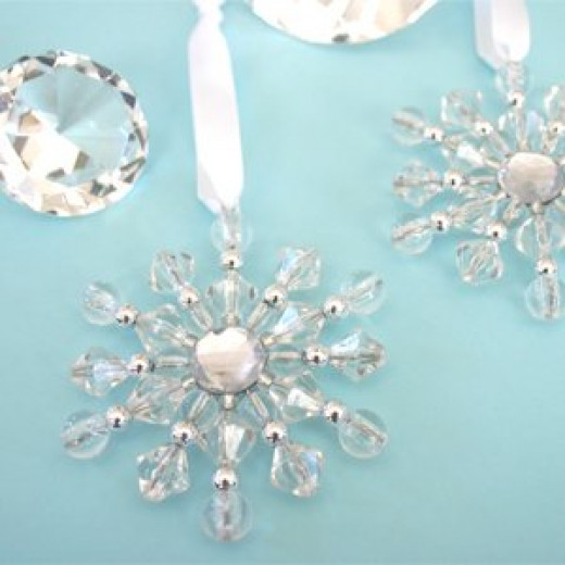 Beaded Snowflake ornaments