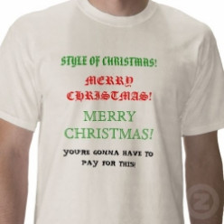 Merry Christmas Ornamental Tees