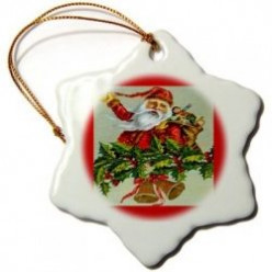 Vintage and Modern Santa Ornaments