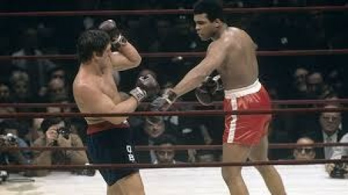 Muhammad Ali floored Bonavena three times in the final round to defend the heavyweight championship of the world.