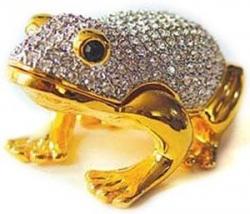 24k Gold-Plated Swarovski Crystal Frog