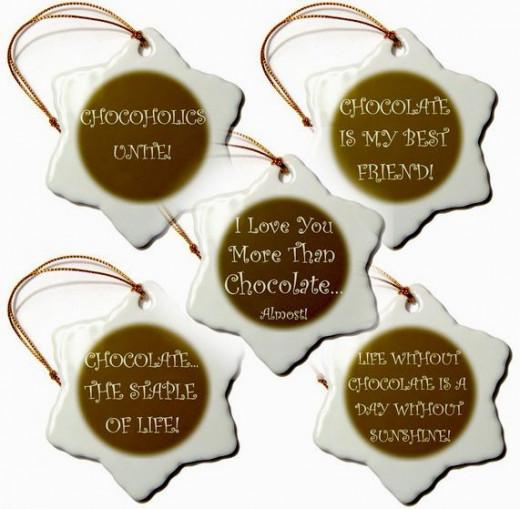 candy slogan ornaments