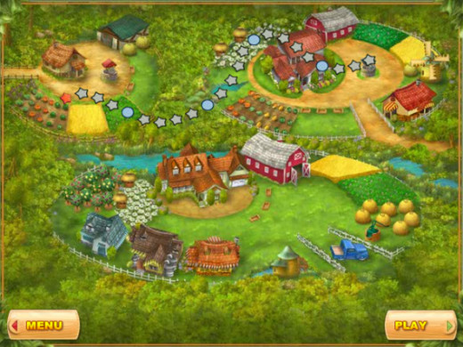 Farm Mania Game Progress Screen