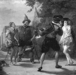 dueling and insulting in Twelfth Night