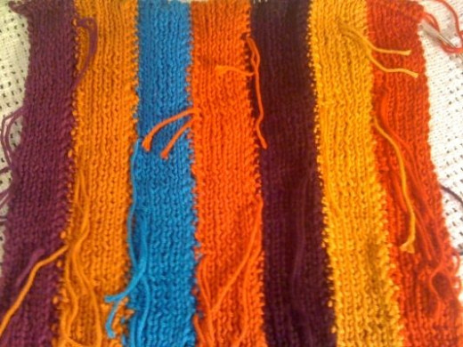 intarsia scarf closeup
