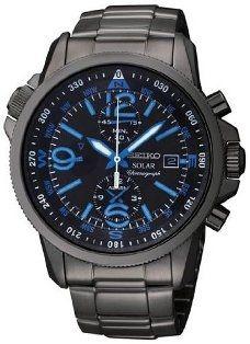 Seiko Solar Chronograph Compass Black