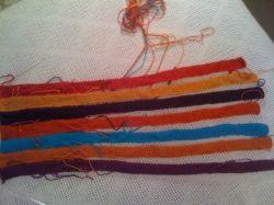 fringed intarsia scarf
