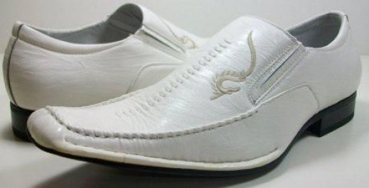 Mens White Delli Aldo Loafer Dress Casual Shoes Styled in Italy