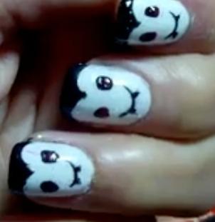 Cute vampire Halloween nail art manicure tutorial