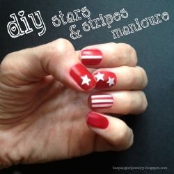 nail art, stars and stripes, patriotic manicure, diy tutorial, nails, beauty, how to