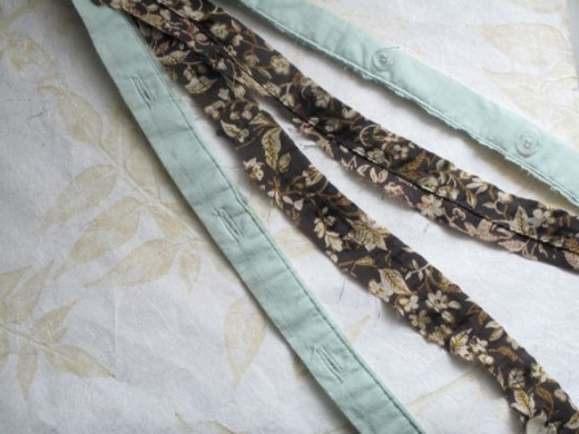 Fabric Strips for no-sew braided headband