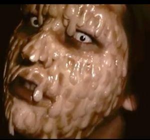 Gross melting face Halloween makeup tutorial video