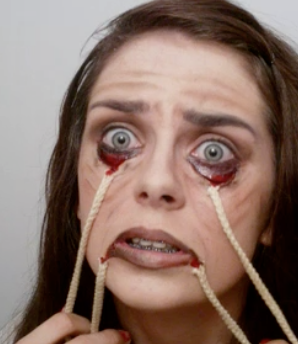 scary stretched face halloween makeup tutorial {video}