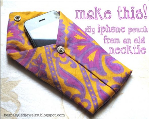 DIY upcycled necktie pouch