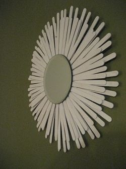 Popsicle Stick Sunburst Mirror tutorial by 31DIY