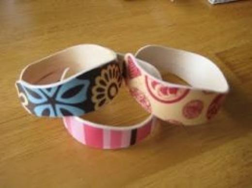 DIY popsicle stick cuff bracelets tutorial by Craft Affection