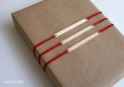 Popsicle Stick Gift Tags tutorial by A Little Hut