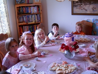 Everyone loved the tea party.