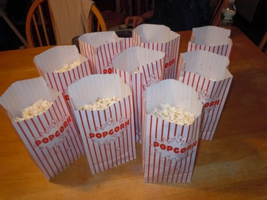 The Popcorn is ready for the movie!