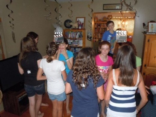 "The girls enjoyed playing ""Who Am I"" -- guessing which Disney Princess was taped to their back"