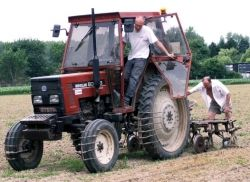 tractor with rotavator