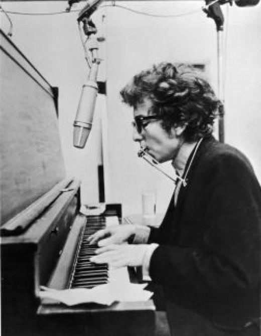 Bob Dylan at work