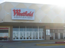Entrance on northeast corner of Westfield Mall - largest mall in Naperville