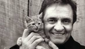 Johnny Cash and his cat