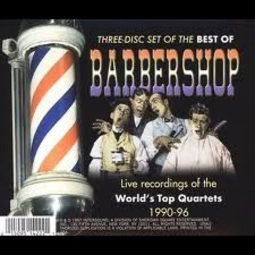 close-up of the best of Barbershop album (above)