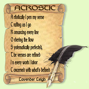 Acrostic poem about writing inspirational poems