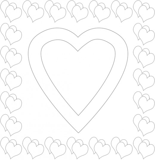 Printable Heart Frame
