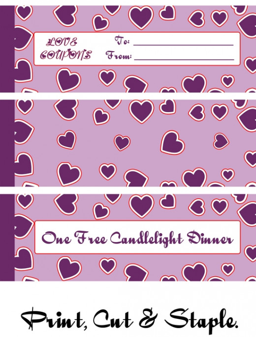 Printable Love Coupon Booklet Valentine's Day