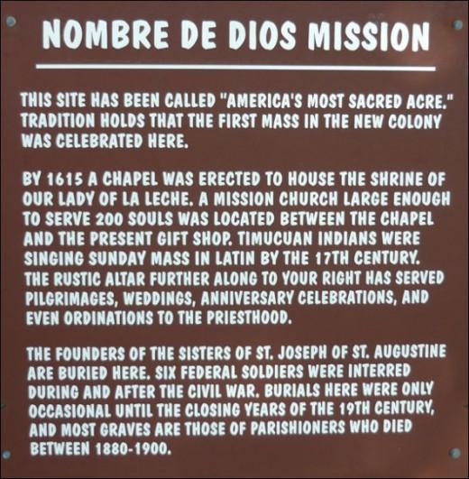 Nombre de Dios Mission; St. Augustine, Florida