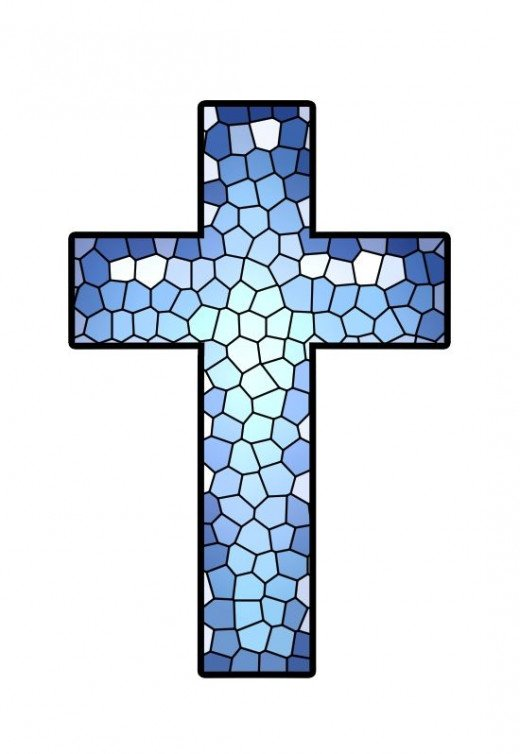 Stained Glass Cross Clipart