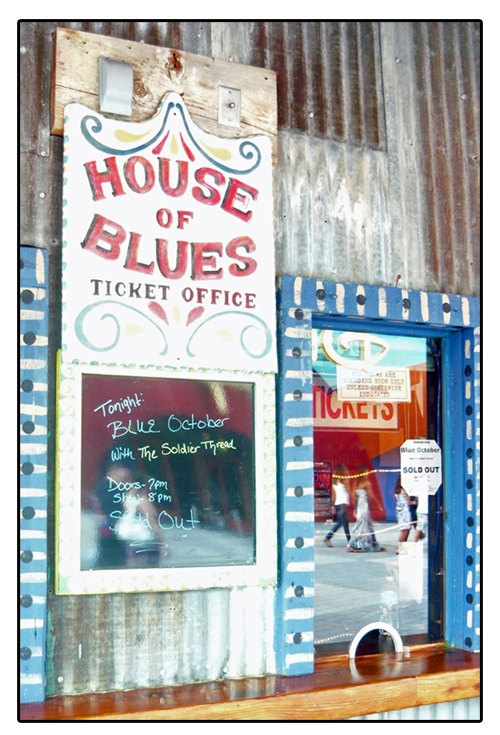 Blue October - Sold Out Ticket Window -  House Of Blues - Orlando, Florida