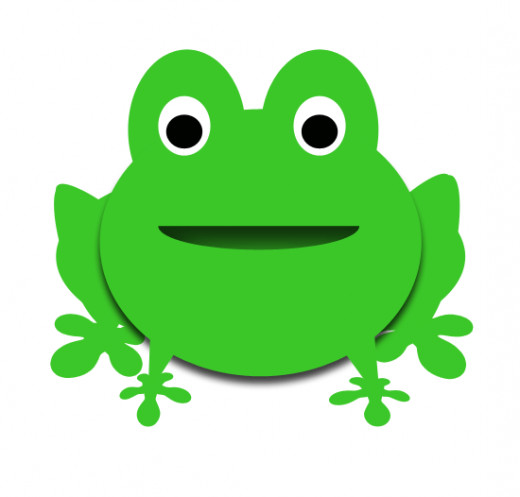 Cute happy froggy.