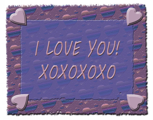 I Love You XOXO clip art.
