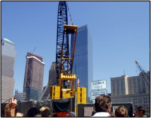Construction site of where the Twin Towers once stood.